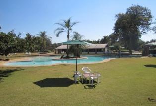 a pool area